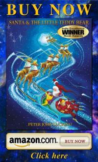 Santa, teddy bear Collector Christmas Holiday book by Real Magic Design