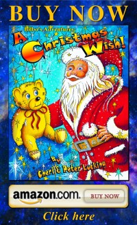 Santa, teddy bear children Christmas holiday book by Real Magic Design