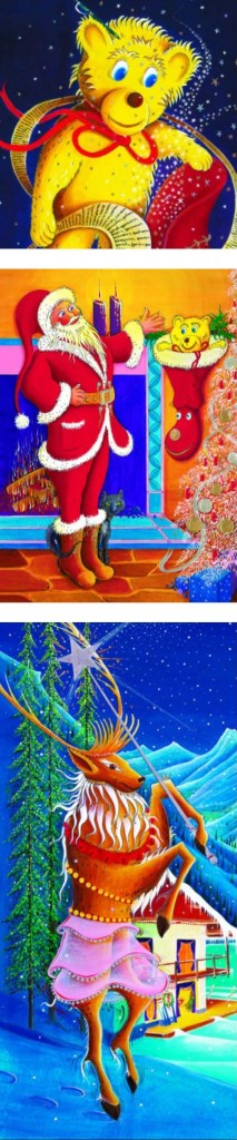 Santa, the little teddy bear, a Christmas holiday book classic published by Real Magic Design Cheri and Peter john Lucking epublishing, ebook, book, self-published Amazon Best seller
