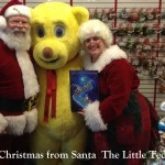 Santa, Mrs. Claus, Bilbo from Santa and The Little Teddy Bear Children's Christmas book Bestseller Kids book