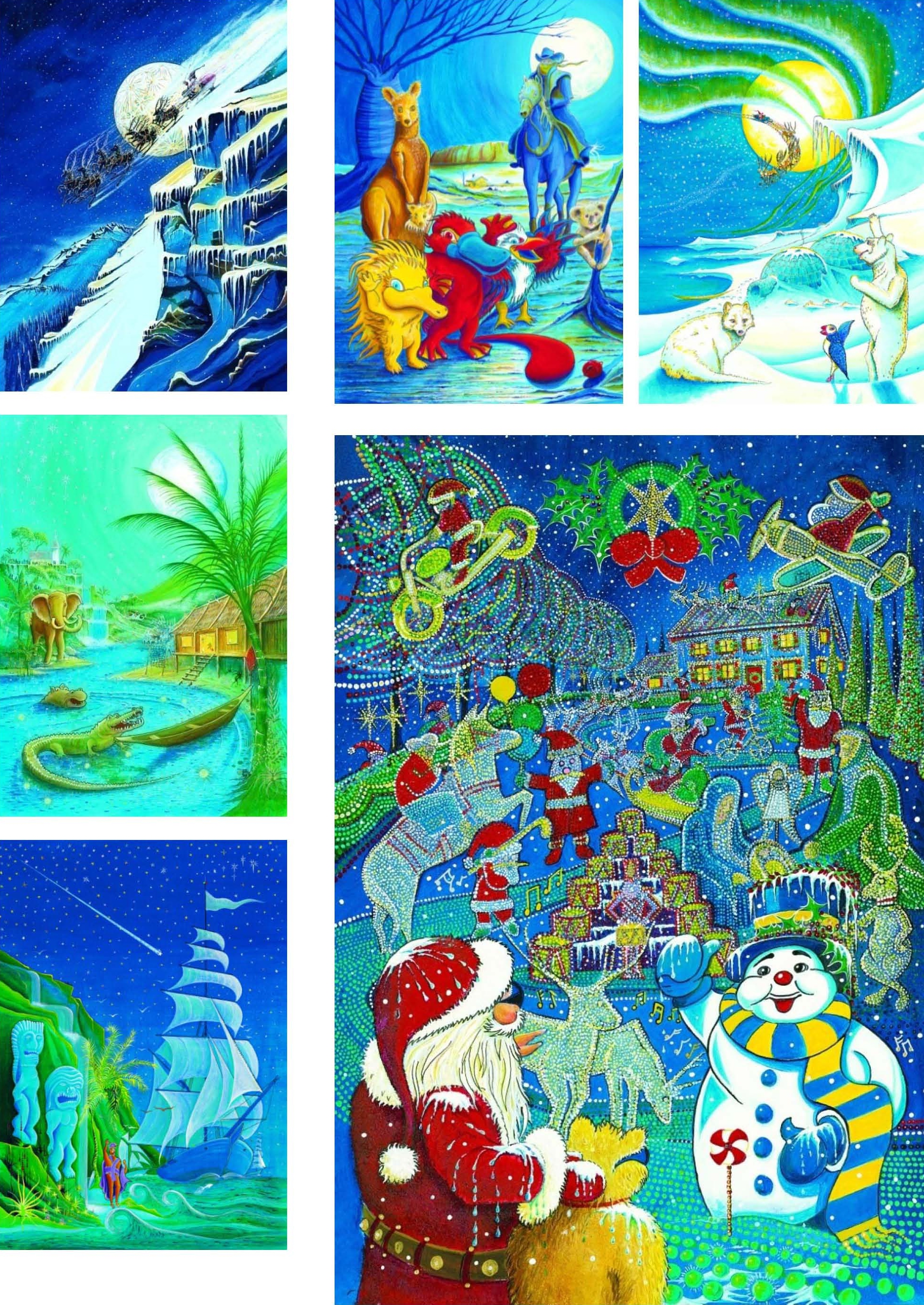 Images from Santa & The Little Teddy Bear, a Christmas holiday book classic published by Real Magic Design Publishing a Cheri and Peter john Lucking epublishing ebook and book publishing and marketing firm