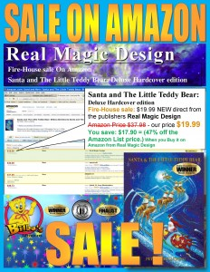 Christmas books, Christian Children's book SALE, Santa & The Little Teddy Bear, Amazon Childrens Christmas book Best Seller by Real Magic Design