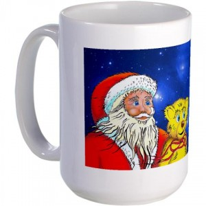 Santa Mugs, Sweatshirts, hoodie's, posters, bags Christmas Gift, Holiday Gifts from Bilbo's Adventures